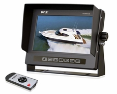 Pyle (PLMRM72B) Marine Grade Waterproof IPX7 7'' LCD Wide-Screen Monitor with Anti-Glare Shield & Universal Stand (Black Color)