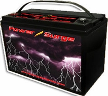 Power Surge (1000) 2000 Watts, Sealed Gel Cell Battery, 12V, 100 Amp Hour