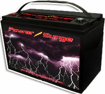 Power Surge (1250) 2500 Watts, Sealed Gel Cell Battery, 12V, 125 Amp Hour