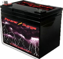 Power Surge (500) 1250 Watts, Sealed Gel Cell Battery, 12V, 50 Amp Hour