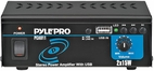 Pyle Home (PCAU11) Mini 2x15 Watt Stereo Power Amplifier w/ USB Input