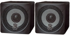Pyle Home (PCB3BK) 3'' 100 Watt Black Mini Cube Bookshelf Speaker In Black