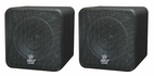 Pyle Home (PCB4BK) 4'' 200 Watt Black Mini Cube Bookshelf Speaker In Black