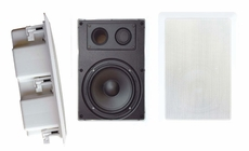 Pyle Home (PDIW57) 5'' Two Way In Wall Enclosed Speaker System w/ Directional Tweeter
