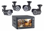 Pyle Home (PDVRJ2) 4 Channel DVR Color Camera Surveilance Kit w/ Built-in Monitor & 4 Cameras