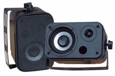 Pyle Home (PDWR30B) 3.5'' Indoor/Outdoor Waterproof Speakers (Black)