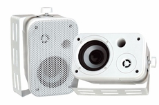 Pyle Home (PDWR30W) 3.5'' Indoor/Outdoor Waterproof On-Wall Speakers (White)