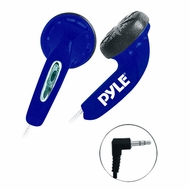 Pyle Home (PEBH25BL) Ultra Slim In-Ear Ear-Buds Stereo Bass Headphones For Ipod/MP3/All Audio source Players (Blue)