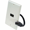 Pyle Home (PHDK8) Single Port HDMI White Wall Plate W/Back Built-in Flexible Cable For Easy Installation