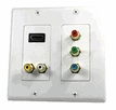 Pyle Home (PHDMIW6) HDMI + 2 RCA + 3 RCA Double Wall Plate