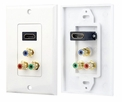 Pyle Home (PHDMRCF3) HDMI/ 3 (RGB/RCA) Component Combo Wall Plate
