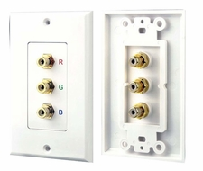 Pyle Home (PHRCOMP3) 3 RGB/RCA Component Wall Plate