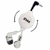 Pyle Home (PHRT32WT) Ultra-Compact Retractable In-Ear Ear-Buds Stereo Bass Headphones(White)