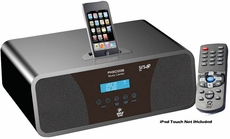 Pyle Home (PHSCI20B) 200 Watts High-Performance 2.0 Channel AM/FM Clock Radio Speaker With iPod / iPhone Docking Station(Black)