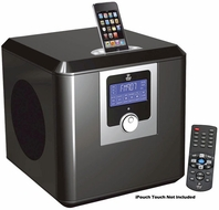 Pyle Home (PHSI50B) 300 Watts High-Performance 2.1 Channel iPod / iphone Home Music System With Built-In AM/FM Clock Radio