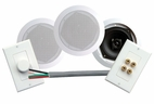 Pyle Home (PHSKIT5) 200 Watts 5 1/4 Dual In-Ceiling Speaker /Volume Contro/Speaker Wall Plate/Wiring Combo Speaker System