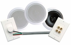 Pyle Home (PHSKIT6) 250 Watts 6-1/2'' Dual In-Ceiling Speaker /Volume Contro/Speaker Wall Plate/Wiring Combo Speaker System