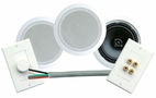 Pyle Home (PHSKIT8) 300 Watts 8'' Dual In-Ceiling Speaker /Volume Contro/Speaker Wall Plate/Wiring Combo Speaker System