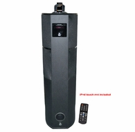 Pyle Home (PHST92IBK) 600 Watt Digital 2.1 Channel Home Theater Tower w/ iPod & iPhone Docking Station - Black Wood Finish