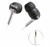 Pyle Home (PIEH10B) Ultra Slim In-Ear Ear-Bud's Stereo Bass Headphones For Ipod/MP3/All Audio source Players (Black)