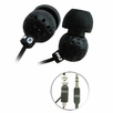 Pyle Home (PIEH30B) Ultra Slim In-Ear Ear-Buds Stereo Bass Headphones For Ipod/MP3/All Audio source Players (Black)