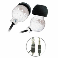 Pyle Home (PIEH30W) Ultra Slim In-Ear Ear-Buds Stereo Bass Headphones For Ipod/MP3/All Audio source Players (White)