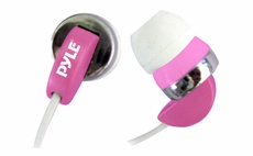 Pyle Home (PIEH40P) Ultra Slim In-Ear Ear-Buds Stereo Ultra Super Bass Headphones For Ipod/MP3/All Audio source Players (Pink)