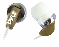 Pyle Home (PIEH40T) Ultra Slim In-Ear Ear-Buds Stereo Ultra Super Bass Headphones For Ipod/MP3/All Audio source Players (Tan)