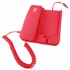 Pyle Home (PIRTR60RD) Handheld Phone and Desktop Dock for iPhone (Red Color)