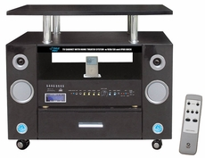 Pyle Home (PTVC321) LCD TV Cabinet Dual Channel Home Theater System W/ iPod Docking Station & USB Fits Up to 32'' Monitor