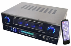 Pyle Home (PTVT790A) 19'' Rack Mount 2000 Watt AM/FM Multi Source Receiver & Vacuum Tube Amplifier with built in Pre-Amp