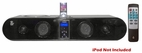 Pyle Home (PVSB300) 5-Way 240 Watt Multi-Source Sound Bar Integrated I-Pod Dock w/ FM Tuner & SRS 3D Technology