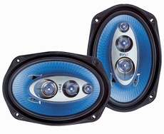 Pyle (PL6984BL) 6''x 9'' 400 Watt Four-Way Speakers