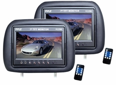 Pyle (PL71PHB) Headrest Pair with Built-in 7'' TFT-LCD Monitors (Black)