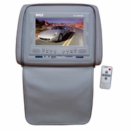 Pyle (PL72HRGR) Adjustable Headrests w/ Built-In 7'' TFT/LCD Monitor W/IR Transmitter & Cover (Gray)