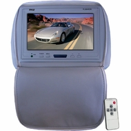 Pyle (PL90HRGR) Adjustable Headrest/ Built-In 9'' TFT-LCD Monitor with IR Transmitter (Gray Color)