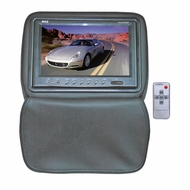 Pyle (PL91HRGR) Adjustable Headrests w/ Built-In 9'' TFT/LCD Monitor W/IR Transmitter & Cover (Gray)