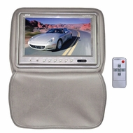 Pyle (PL91HRTN) Adjustable Headrests w/ Built-In 9'' TFT/LCD Monitor W/IR Transmitter & Cover (Tan)