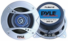 Pyle (PLBW42) 4'' 160 Watt Two-Way Speaker w/Blue LED Light