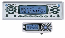 Pyle (PLCD15MR) AM/FM-MPX In-Dash Marine CD/MP3 Player w/Full Face Detachable Panel with Wired Remote