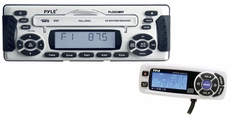 Pyle (PLCD22MRP) 1.5 DIN Waterproof Marine CD/MP3 Player Receiver w/Weather Band & Wired Remote