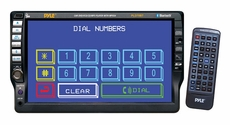 Pyle (PLD70BT) 7'' TFT Touch Screen DVD/VCD/CD/MP3/CD-R/USB/AM/FM/RDS Receiver & Bluetooth System
