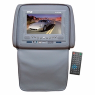 Pyle (PLD72GR) Adjustable Headrests w/ Built-In 7'' TFT/LCD Monitor w/ Built in DVD Player & IR/FM Transmitter With Cover (Gray)