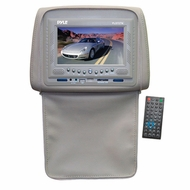 Pyle (PLD72TN) Adjustable Headrests w/ Built-In 7'' TFT/LCD Monitor w/ Built in DVD Player & IR/FM Transmitter With Cover (Tan)