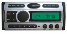 Pyle (PLDMR87) 1.5-Din AM/FM Receiver / CD/DVD/MP3/AM-FM Marine Grade Player