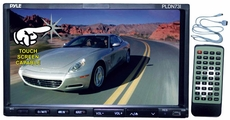 """Pyle (PLDN73I) 7"""" Double DIN TFT Touch Screen DVD/VCD/CD/MP3/MP4/CD-R/USB/SD-MMC Card Slot/AM/FM/iPod Connector"""