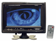 Pyle (PLHR76) 7'' Widescreen TFT/LCD Video Monitor w/Headrest Shroud