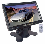Pyle (PLHR77) 7'' Wide Screen TFT LCD Video Monitor w/Headrest Shroud and Universal Stand