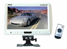 Pyle (PLHR97W) 9'' TFT LCD Headrest Monitor w/ Stand (White)