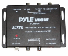 Pyle (PLMD56) 7 Channel FM Stereo Modulator w/RCA Audio Outputs